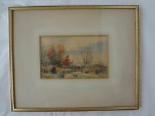 William C Bauer (1862-1904) Countryside/ Landscape Watercolor ~ Signed & Framed