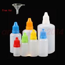 5ml 10ml 15ml 30ml 50ml 100ml Empty Plastic Squeezable Dropper Eye Liquid Bottle
