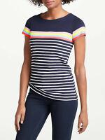 BODEN  Damen  Shirt Breton Top Short Sleeve Gestreift GR.UK.8  34 36  Neu