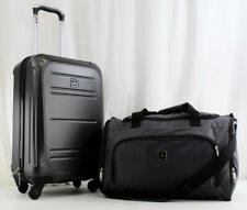 TAG VECTOR II 2 PIECE HARDSIDE SPINNER CARRY ON LUGGAGE SET CHARCOAL USED 1