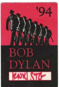 Bob Dylan 1994 Tour Backstage Pass