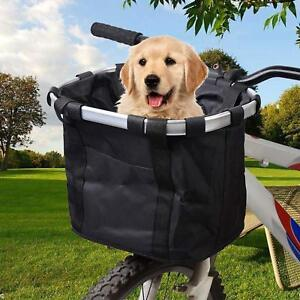Bike Dog Carrier Front Box Bicycle Basket Pet Seat Easy Travel Stable Holder New
