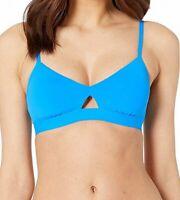 Seafolly Womens Swimwear Electric Blue Size 6 Bralette Hybrid Bikini Top $78 573
