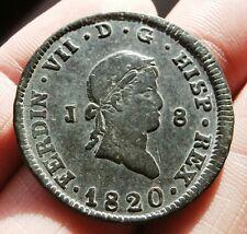 1820 PIRATE COBS SPANISH PORTRAIT COIN! 8 MARAVEDIS FERDINAND VII COLONIAL COIN