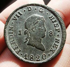 1820 SPANISH PIRATE COB COIN! FERNANDO / FERDINAND VII 8 MARAVEDIS COLONIAL COIN