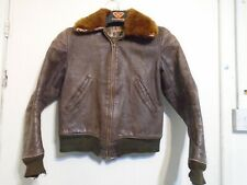 VINTAGE 40'S USA WW2 MONARCH HORSEHIDE DISTRESSED LEATHER JACKET JACKET SIZE XS