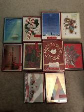 Hallmark 10 CHRISTMAS CARDS Boxed Sets
