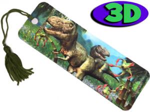 Dazzling Dinosaur Moving 3D Hologram Bookmark with Tassel Book Place Holder 15CM