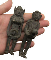 Couple Erotique Talisman -Statuette Fertilité Fécondite sexy laiton- E6- 6455