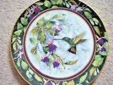 Royal Doulton Franklin Mint England porcelain plate,The berylline Hummingbird