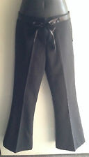 Just Wear Ladies Size Small 8 Black Pants with Satin Trim