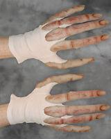 Harvest Scarecrow Beast /& Burlap Orange Pumpkin Gloves Adult Costume Hands