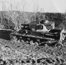WW2 Photo Destroyed Panzer Tank WWII Russia Germany  World War Two Wehrmacht