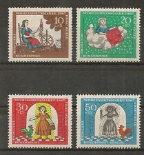STAMP / TIMBRE ALLEMAGNE GERMANY SERIE N° 403 A 406 ** OEUVRES DE BIENFAISANCE