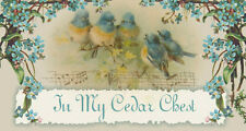 Shabby Blue Birds Chic Vtg Forget Me Nots Floral Victorian Ebay Auction Template