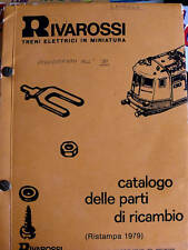 Catalogo parti di ricambio TRENI  Rivarossi 1979