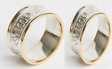 Set of matching 10k Gold Irish Handcrafted My Soul Mate Anam Cara Wedding Rings