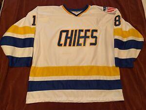 Classic Repro Chiefs Hockey Jersey - Slap Shot - Hanson Bros. - Size XL
