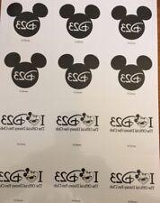 Disney D23 Gold Member Exclusive Sheet of 12 D23 Mickey Tatoos New