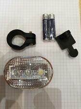 Union 404W Front Clip-on 3 LED Bicycle Light Inc. Battery - Mount to bars / bags