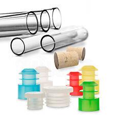 25x Röhrchen / Kunststoff Reagenzgläser / diverse Größen und Verschlüsse