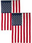 12x18 American Garden Flag ~ 2 Pack ~ USA United States of America ~ US Flag