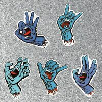 5 Screaming Hand Vinyl Stickers