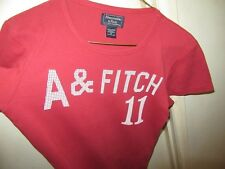 Abercrombie & Fitch ladies red t shirt. Graphic print. Ex cond. sz: M REDUCED