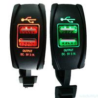 Cargador dual mechero de coche para movil tablet 3.1A doble USB 12-24v LED HO4