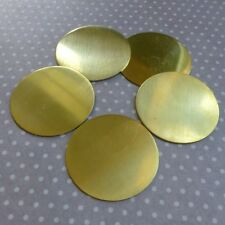 Lot de 10 BRASS Stamping Blanc plaque ronde Blanks