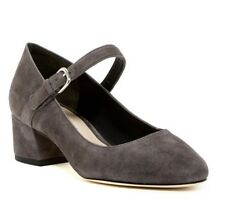 Women's Via Spiga Alana Mary Jane Pump Suede Size 8 M Grey