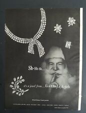 1957 Van Cleef & Arpels diamond ring necklace earring pin jewelry Santa Claus ad