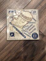 1952 Brooklyn Dodgers plastic scraper emblem original with backer C. McDonald MF