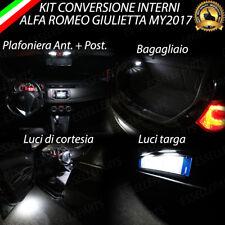 KIT LED INTERNI ALFA ROMEO GIULIETTA MY 2017 KIT COMPLETO + LUCI TARGA CANBUS