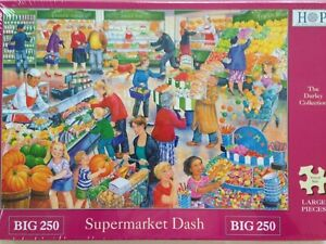 Brand New House of Puzzles BIG250 Large Piece Jigsaw Puzzle - SUPERMARKET DASH