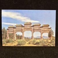 Vintage Post Card Stone Memorial Archway Beijing China