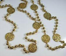 Mardi Gras Beads Gold Tone Krewe of Santa Margarita Coins Lot Specialty Repair