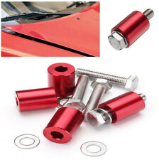 """1"""" Billet Hood Vent Spacer Kits Red For 8mm Turbo Engine All Motor Swap Not Rust"""