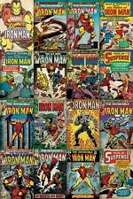 Iron Man Comic Covers Poster Marvel Rétro impression Vintage Wall Art Large Maxi