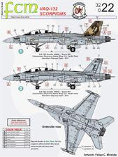 Decal FCM EA-18G Growler - VAQ 132 Scorpions 1/32 Scale