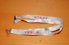 Lanyard for TESLA Grey White Red