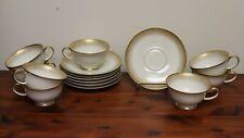 "8 Piece Mid Century Modern Rosenthal ""Stardust"" Pattern Tea Cup & Saucer Set"