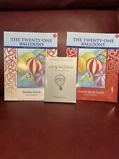 Twenty-One Balloons SET: BOOK with Student & Teacher Guides by Laura Bateman NEW
