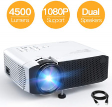 "Projector APEMAN Portable Mini Projector 4500 Lumens Support 1080P Max 180"" LCD"