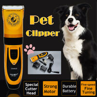 Professional Pet Cat Dog Electric Hair Clipper Cordless Trimmer Fur Grooming Kit