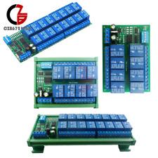 Dc12v 816channel Rs485 Relay Module Modbus Rtu Plc Expaning Board Din Rail Case