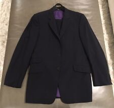 Paul Smith London Italy Slim Fit Mens 100% Wool Black Striped Suit 40L 32W $2495