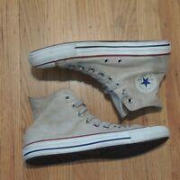 Converse All Star Chuck Taylor Hi Shoes Womens 10.5 Beige Canvas