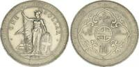 Trade Dollar 1902 One Dollar Grossbritannien GB Hong Kong China Silber (WS50284)