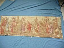 """Tapestry Vintage Medieval Arabian Scenes BELGIUM Large 54""""X17.5"""" Runner Wall"""